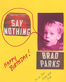 Say Nothing birthday card
